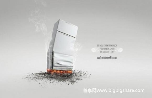 国外创意禁烟公益广告图片