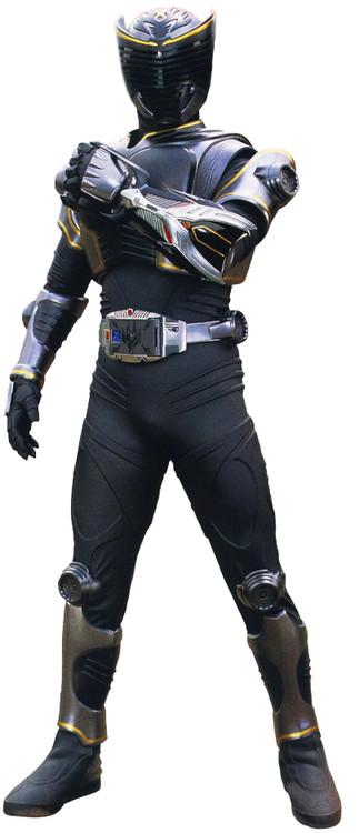 全身黑色的格斗型假面骑士图片