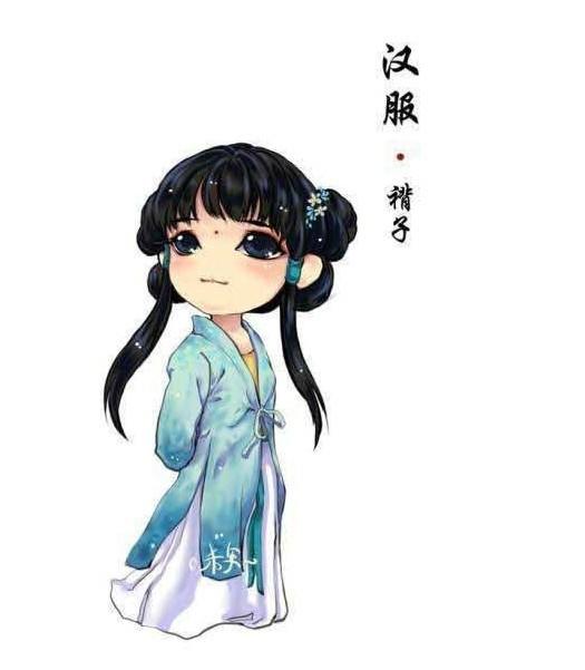 古代汉服漫画版图片