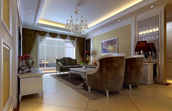 橄榄城伍号院三室两厅139平方装修效果图 郑州装修吧 百度高清图片
