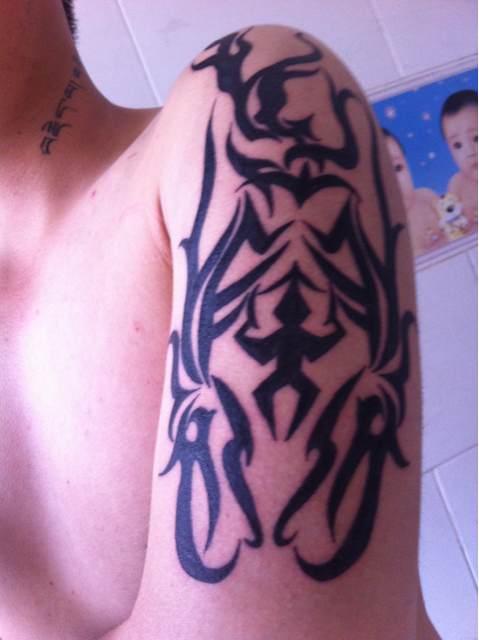 你们说说看纹身是不是想纪念一个人呢?图片