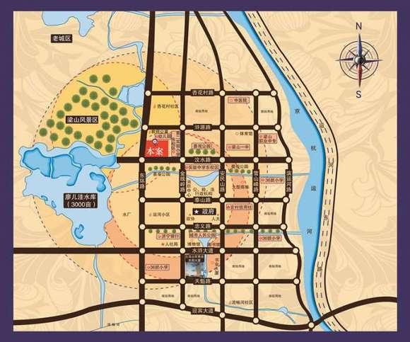 东环新城最新规划图 梁山吧 百度贴吧 高清图片