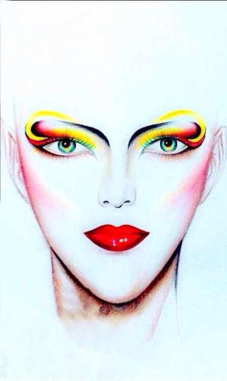 美人图素描妆面图片 美人图素描 纸上妆面美人图片图片