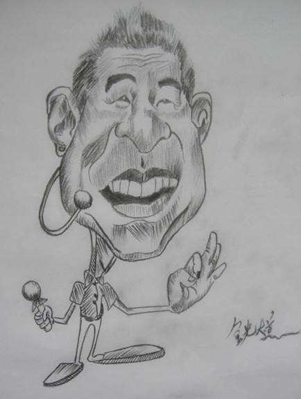 明星卡通铅笔画