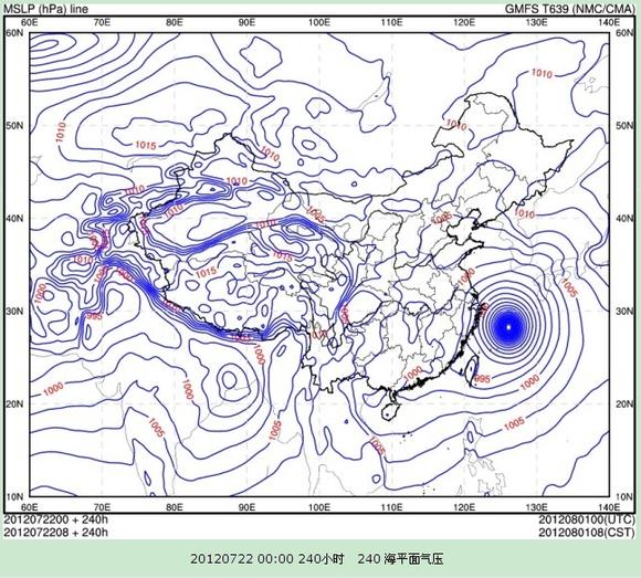 海平面气压图片