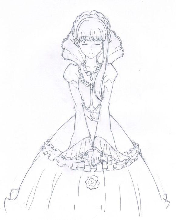 手绘小公主图片