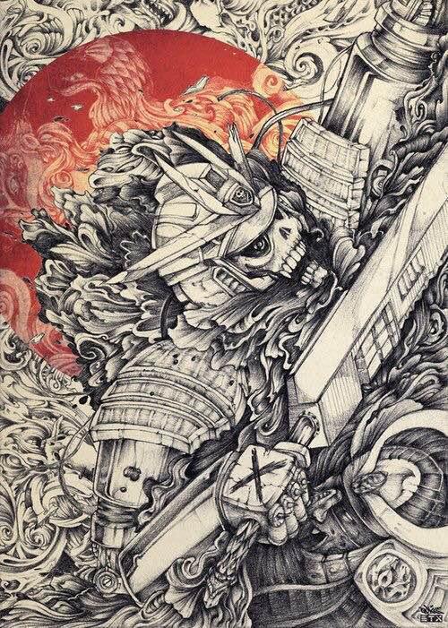 ... 武士铠甲纹身_日本武士盔甲纹身图片_日本武士纹身