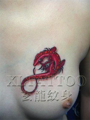 青岛李村四海纹身收藏整理~美女胸部纹身贡献吧里