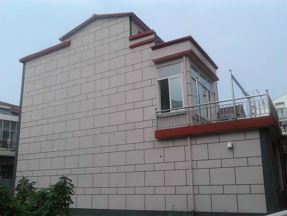 农村房屋外墙真石漆 喷砂 效果图 青口盐场吧 百度贴吧 高清图片