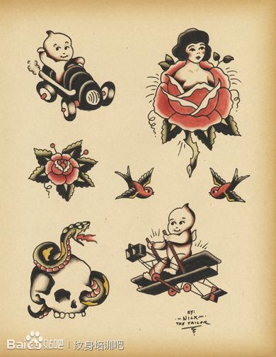 old school纹身素材!_北京纹身吧图片