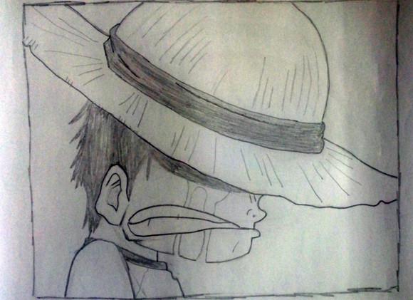 铅笔画海贼王路飞图片大全图片