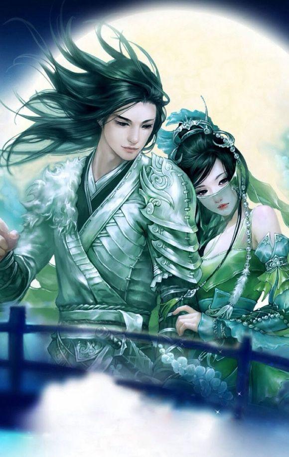 我画的石昊和月婵仙子!图片