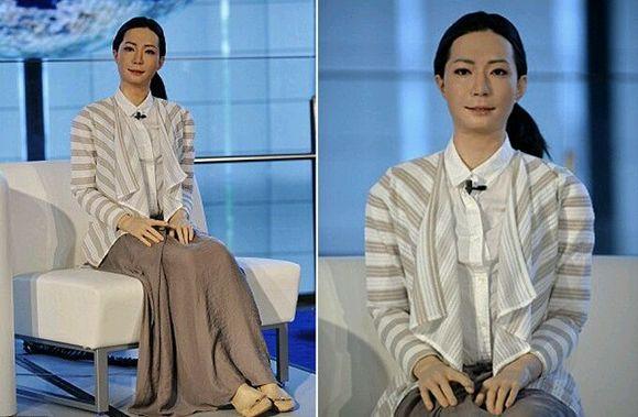 全球首位机器人美女主播亮相