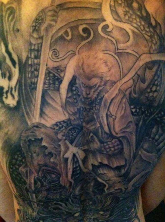 有好的满背大日如来纹身   飞龙堂. 降龙堂总店作品   降龙堂纹身-中山图片
