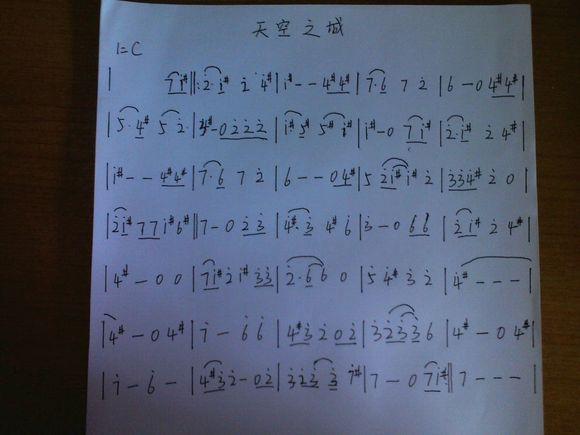 星之所在的24复音口琴谱图片