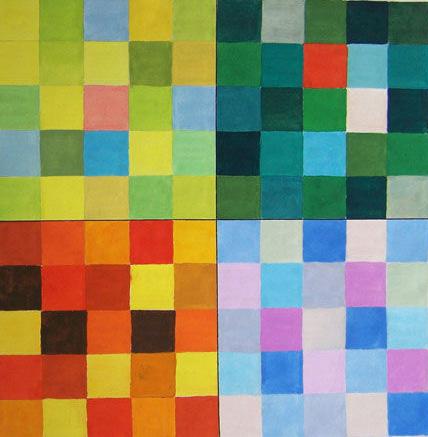 色彩心理喜怒哀乐作业_色彩心理作业图基础性课程色彩构成色彩心理