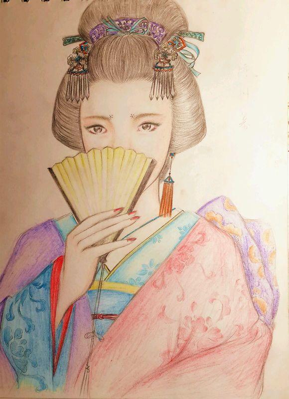 【手绘】彩铅绘 个人真心偏喜欢各类古装女子