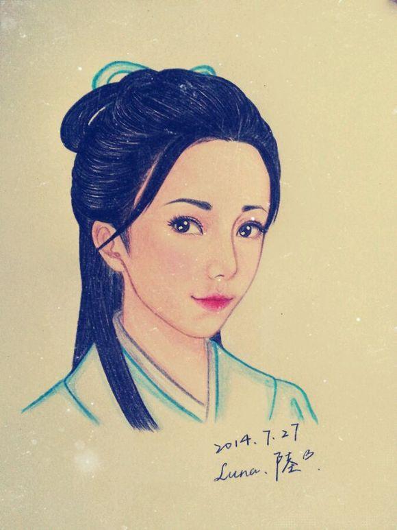 回复:【手绘】古装美女图片