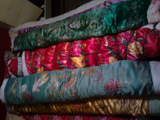 缎被包裹捆绑欣赏 棉被吧