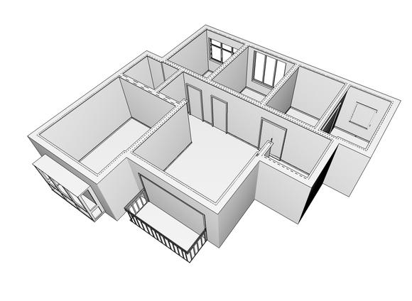 1_设计师,客厅,书柜,次卧,厨房_住宅空间