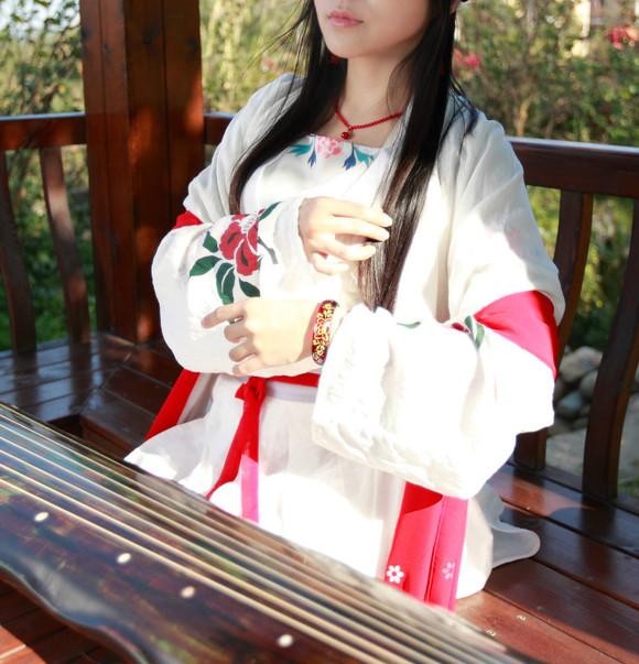 【琴韵莲心】古琴-汉服-书法~晒三月的新照片图片