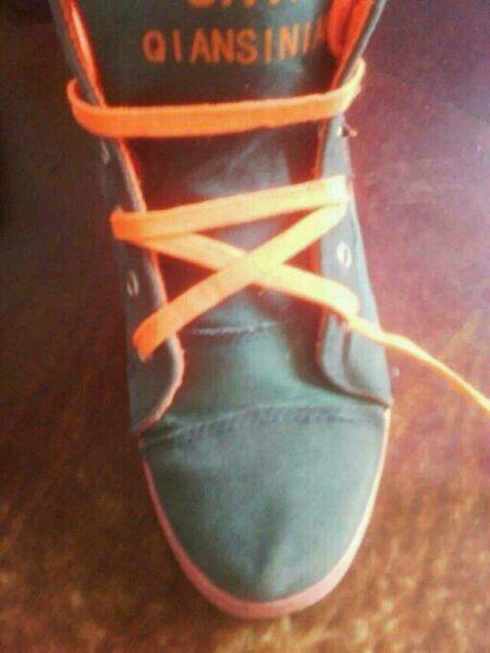 五角星花样鞋带系法图片