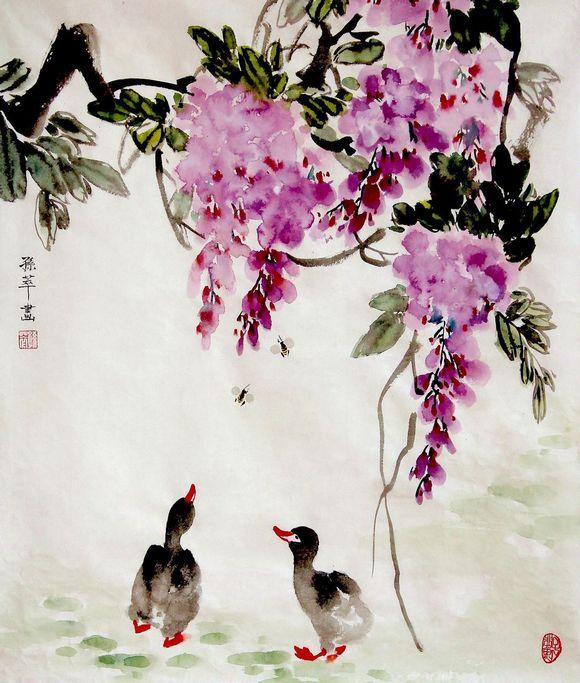 孙萃绘画作品欣赏_中国书画名家吧图片