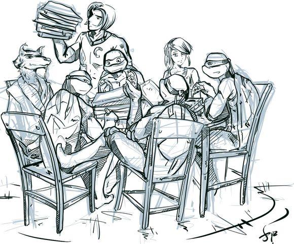 【图】一家人吃pizza——happy图片