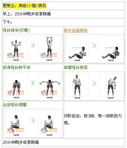 全套哑铃健身计划系列