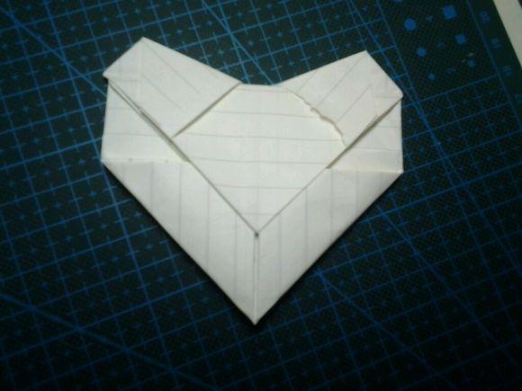 心形送女神 这种方法适用于大部分长方形纸(标准信纸图片