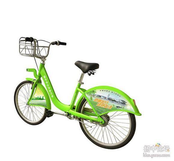 扬中公共自行车使用及站点分布图片