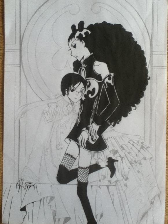 我只会这种简单黑白画,求各位指教 像数神马的真心伤不起高清图片