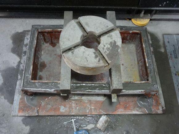 水泥花盆,盆架现场diy图片