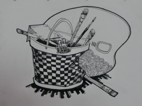 考前设计,创意速写,装饰画图片
