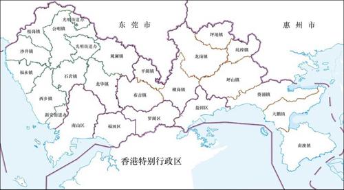 深圳行政区划图_