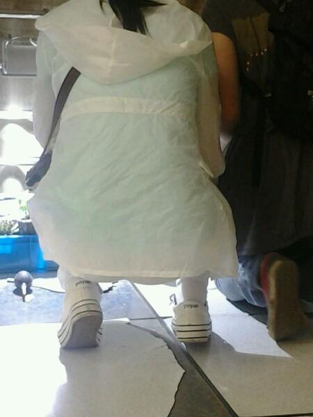 中女生帆布鞋棉袜 竖