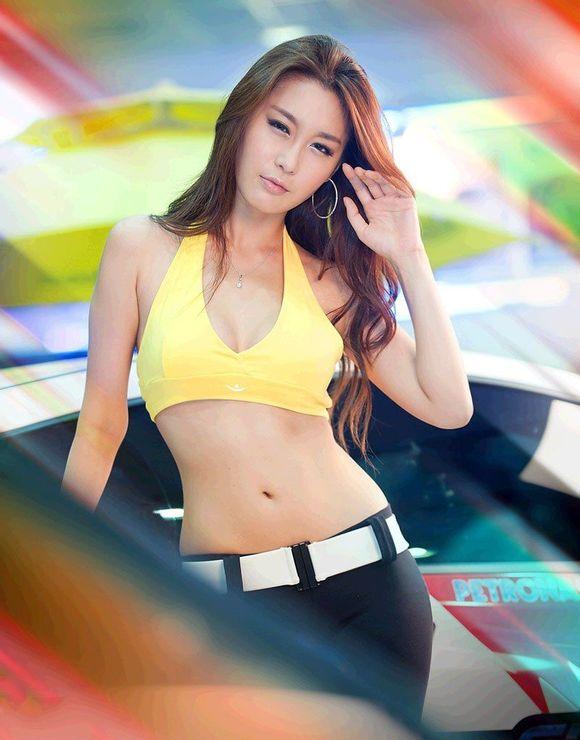 黄仁智―韩国美女车模