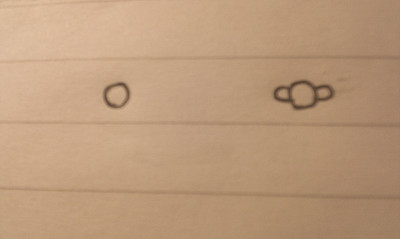 """耳朵""""然后在外面画一圈然后把黑色笔画的涂粗一点.因为粗"""