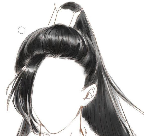 【教程】我来搞个古风头发的图片