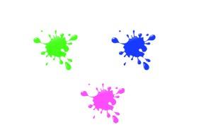 把一滴黑色墨水 变成其它颜色的墨水图片