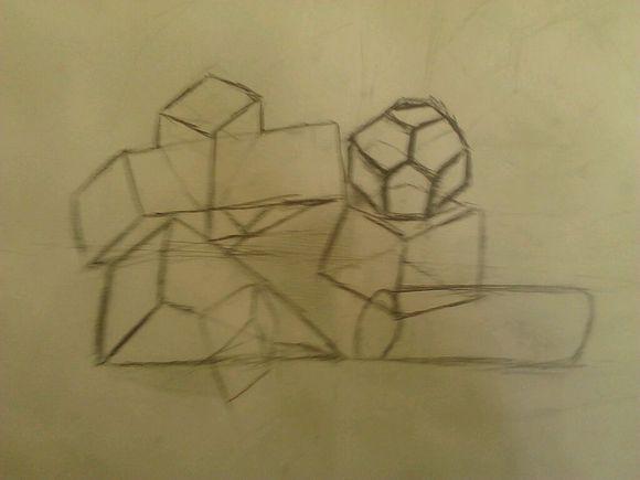 我滴素描作品,第二次接触素描图片