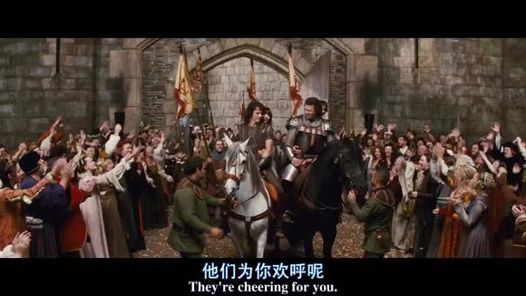 两位王子返回王国 英俊王子载的是救回的美女