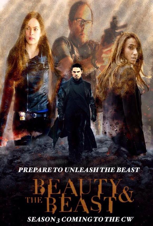美女与//侠胆雄狮第季出海报宣传了