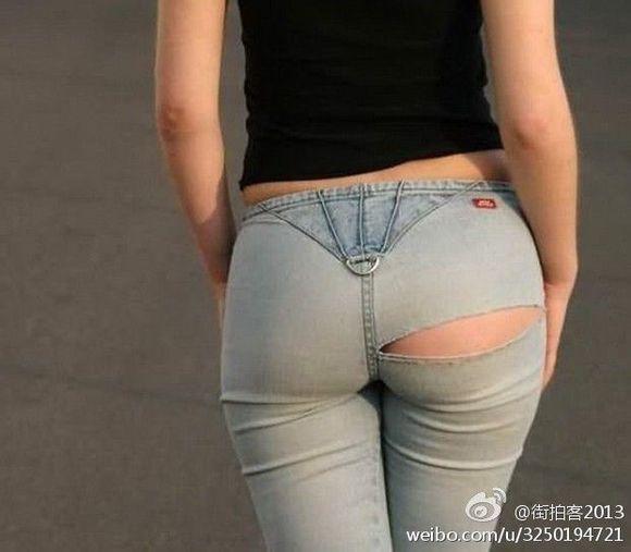 穿紧身牛仔裤裤美女