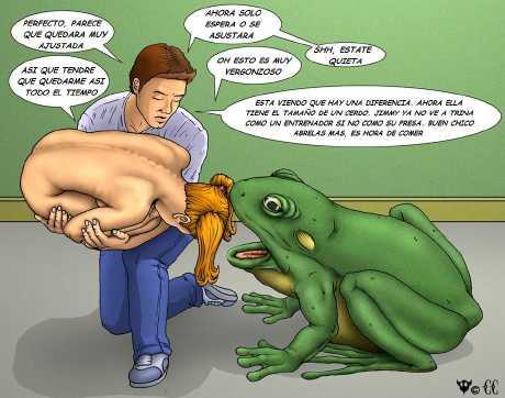 我找到青蛙吞美女的图了
