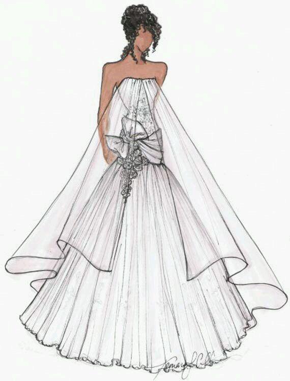 婚纱设计手稿素描图图 婚纱设计手稿素描图图高清图片