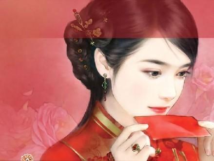 【寻图】红衣手绘美女图