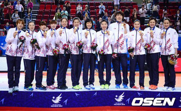 2014亚运女篮决赛韩国70比64中国