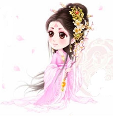 【素材】q版画古装美女图片