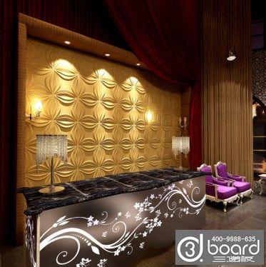 酒店大堂logo背景墙3d板时尚简约欧式设计图片